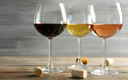 Verschiedene Weine degustieren